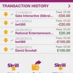 Skrill app / Moneybookers app