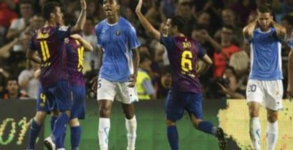Atletico Madrid og Barcelona mødes i Champions League. Spil livebetting hos Bet365.