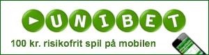 100 kr. risikofrit spil på mobilen hos Unibet