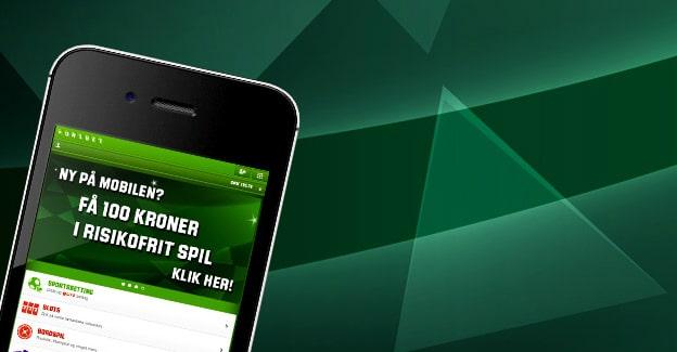 Få 100 kr. risikofrit mobilspil hos Unibet