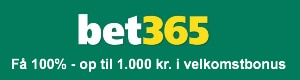 Velkomstbonus på 1.000 kr. hos Bet365