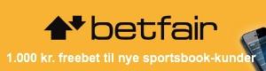 1.000 kr. freebet hos Betfair Sportsbook