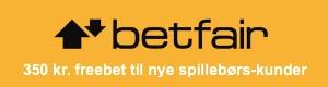 350 kr. freebet hos Betfair Spillebørs