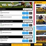 Screendump taget fra Betfair Sportsbooks iPad-app.