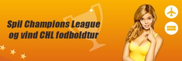 Spil på Champions League og vind fodboldtur til Madrid eller Barcelona