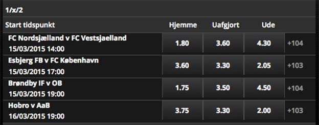 Tripleforsikring på Superligaen med Scandic Bookmakers