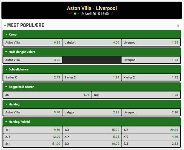 Aston Villa møder Liverpool i FA Cuppens semifinale
