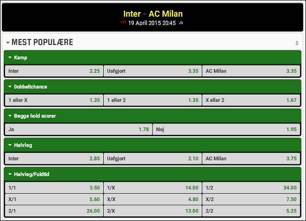 Inter møder AC Milan i klassisk lokalopgør i Serie A