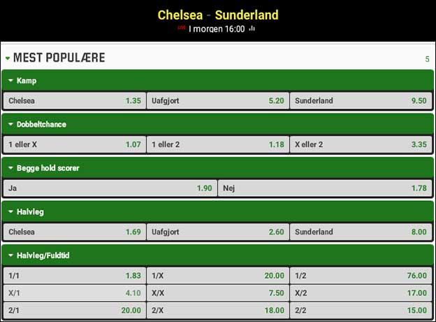 Spiltips til Chelsea-Sunderland fra Brian Laudrup