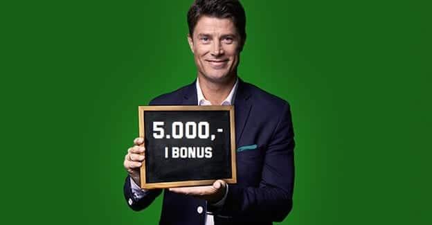 Unibet tilbyder nu nye kunder Danmarks største bonus på hele 5.000 kr.
