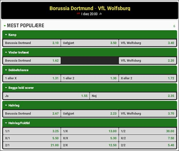 Den tyske DFB Pokal-finale står i år mellem Dortmund og Wolfsburg