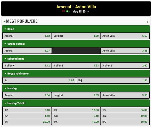 FA Cup-finale: Arsenal møder Aston Villa