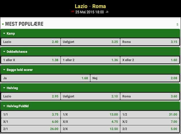 Rom-derby i Serie A; Spiltips til Lazio-Roma
