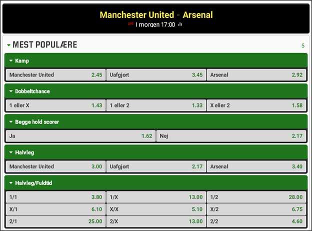 Manchester United-Arsenal - spiltips fra Brian Laudrup
