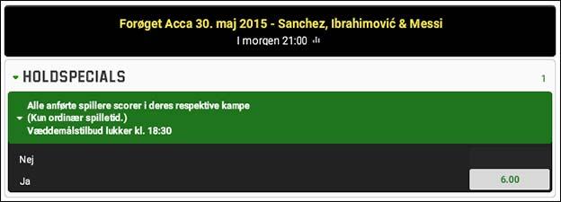 Få odds boost på Messi, Sanchez og Ibrahimovic