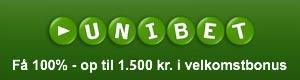 1.500 kr. velkomstbonus hos Unibet