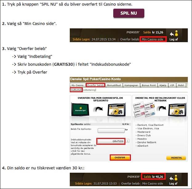 Få 30 kr. gratis hos Danske Spil. Der er ikke noget krav om indskud eller gennemspil.