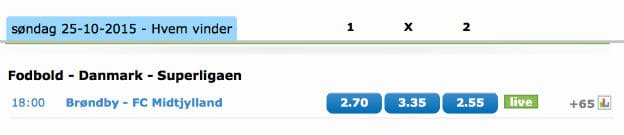 Spil på Brøndby - FCM og få et 100 kr. freebet til United i Capital One
