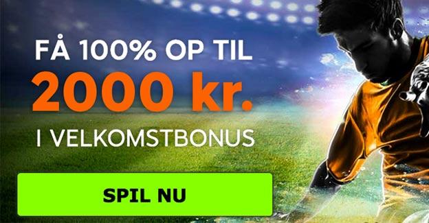 Få en 888sport bonus på 100% - op til 2.000 kr.