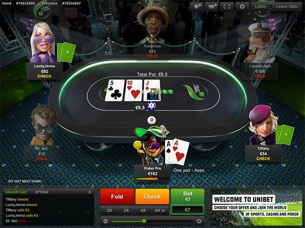 Spil pokerturnering med Unibet