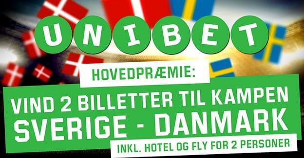 Vind billetter til Sverige-Danmark