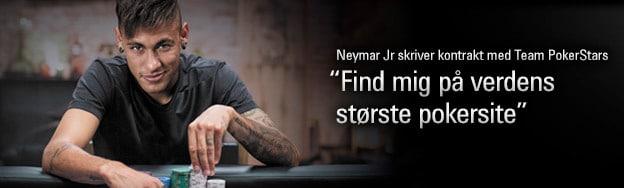 Neymar Jr. spiller poker hos PokerStars. Mon han også får lov at spille betting hos BetStars?