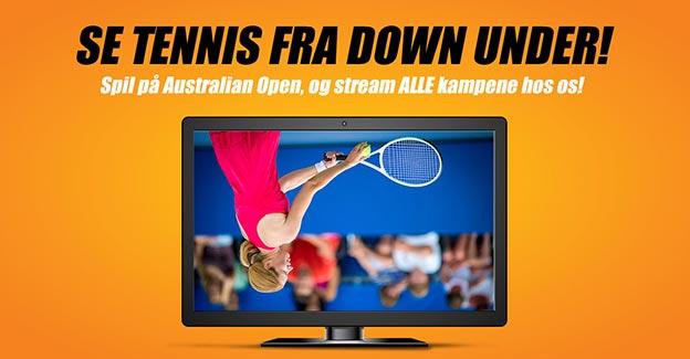 Gratis Australian Open livestreaming hos Oddset