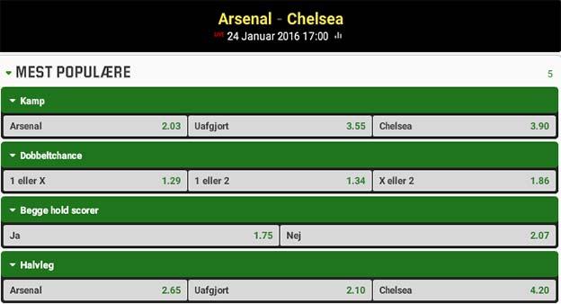 Optakt og spilforslag til Arsenal-Chelsea