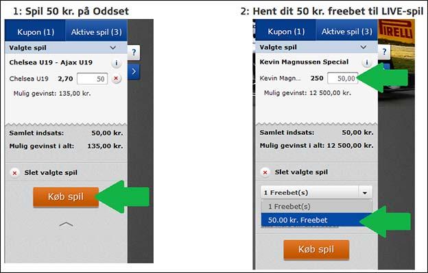 Få et 50 kr. Formel 1-freebet af Danske Spil