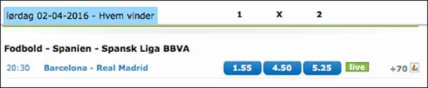 Spil på El Clásico - kampen mellem FC Barcelona og Real Madrid - hos Nordicbet