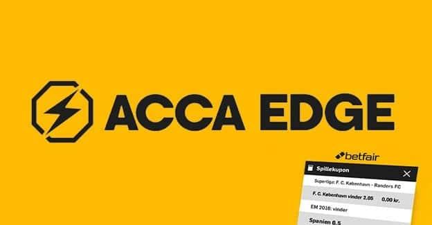 Prøv det nyskabende ACCA Edge fra spiludbyderen Betfair