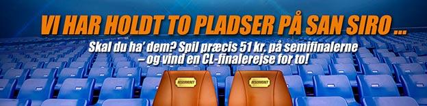 Vind billetter til Champions League-finalen med Oddset / Danske Spil