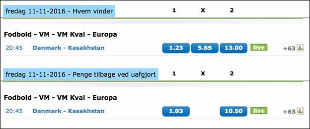 Hent et risikofrit 100 kr. livespil på landskampen Danmark-Kasakhstan hos NordicBet