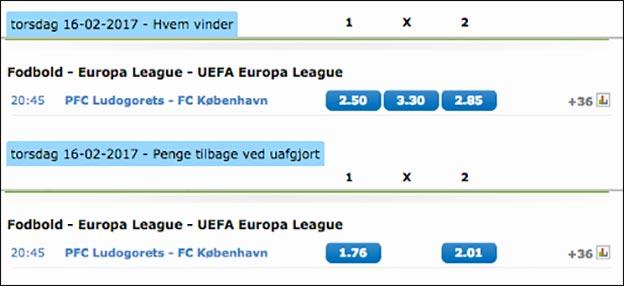 NordicBet udbetaler på FC København allerede midt i december