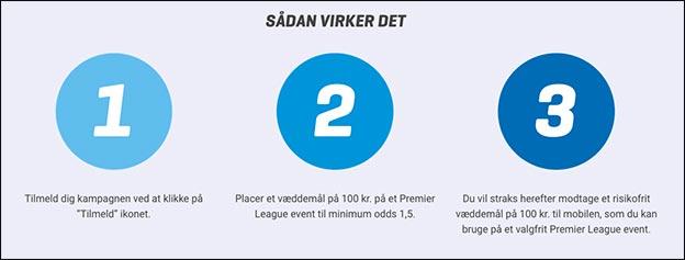 Sådan får du tre risikofrie spil til Premier League hos NordicBet