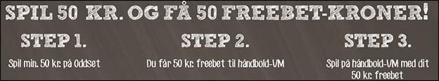 Få et 50 kr. freebet til VM i håndbold hos Danske Spil