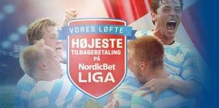 Få de højeste odds på den danske NordicBet Liga hos NordicBet
