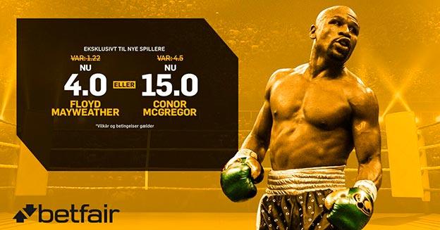 Få boostede odds på Mayweather-McGregor hos Betfair Sportsbook