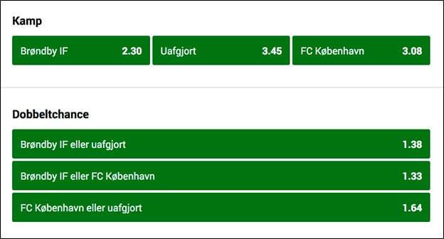 Spil på New Firm mellem Brøndby og FCK og optjen et freebet. Se odds her