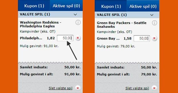 Spil på NFL hos Danske Spil og få ekstra spil for 50 kr.