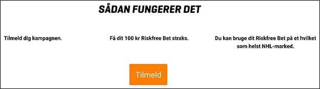 Få et 100 kr. risikofrit spil på NHL hos NordicBet