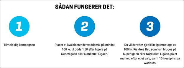 Få risikofrit spil på Superligaen eller NordicBet Ligaen med hovedsponsoren NordicBet