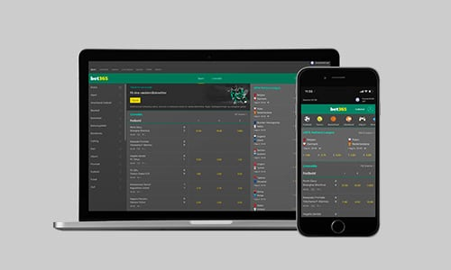 Du kan tilgå Bet365 på alle dine devices
