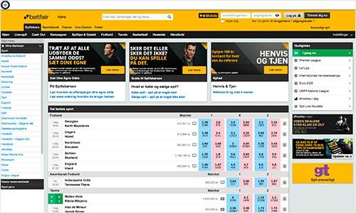 Betfair Spillebørs har en superflot hjemmeside