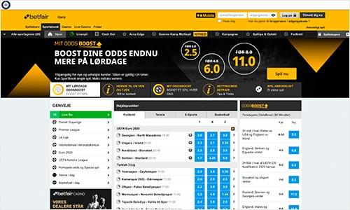 Betfair Sportsbook udmærker sig med en flot hjemmeside