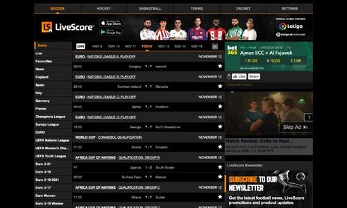 LiveScore.com er et godt bud på en uundværlig livescore