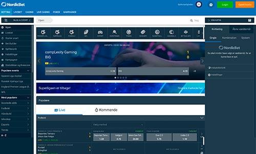 NordicBet har endelig fået styr på teknikken - hjemmesiden er i dag ganske flot