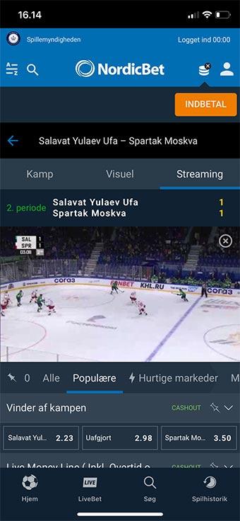 Live stream masser af sport hos den populære spiludbyder